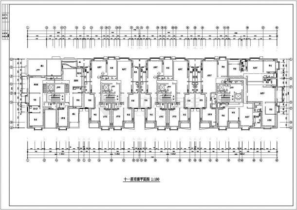 办公楼设计_某高层剪力墙结构办公楼采暖系统设计cad全套施工图(甲级院设计)-图二