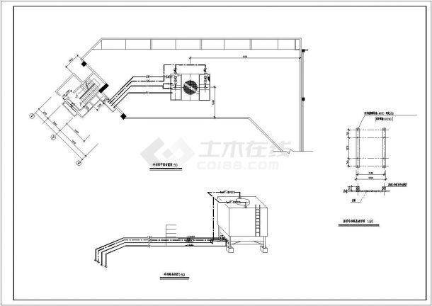 某国际大酒店空调工程全套设计cad图纸(含制冷机房设备管道平面图)-图二