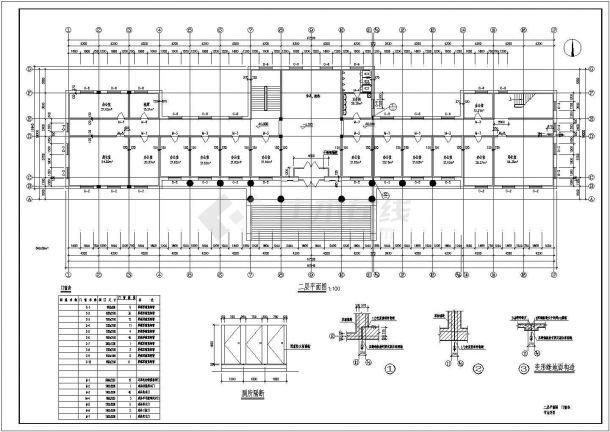 办公楼设计_某市公安局五层砖混结构办公楼设计cad全套建筑施工图(含设计说明,含结构设计,含效果图)-图二