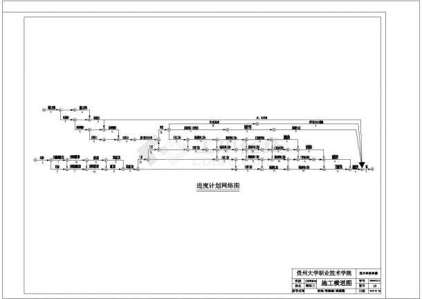 某设计院设计的某中学教学楼施工设计图纸(施工组织设计、平面图、横道图、网络图)-图一