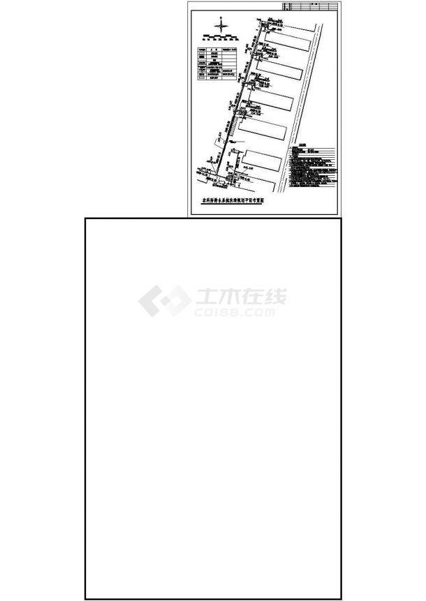 西安市某高等学院宿舍区总平面规划设计CAD图纸(含给排水规划总图)-图一