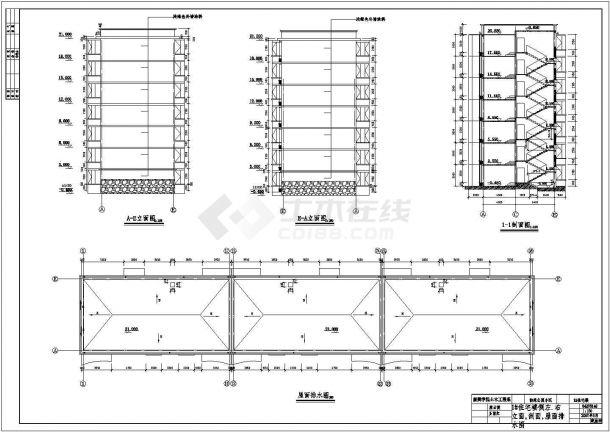 银川市某工厂家属院4300平米7层框架结构住宅楼建筑设计CAD图纸-图一