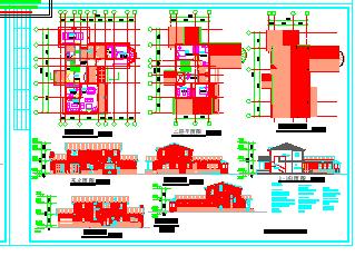 别墅建筑设计方案施工图-图一