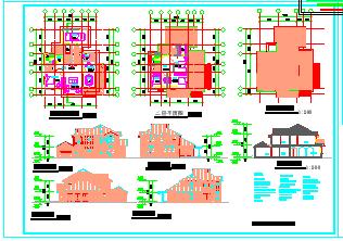 别墅建筑设计方案施工图-图二