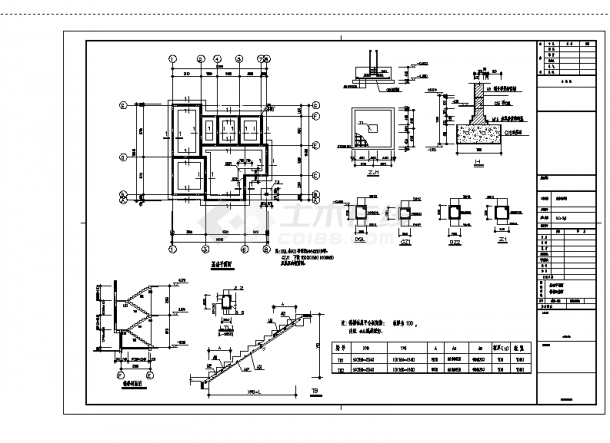 2套三层新农村单家独院式别墅设计施工cad图纸-图一