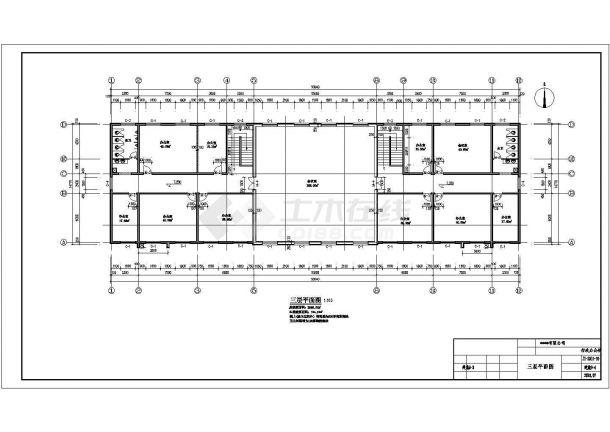 办公楼设计_某公司建筑面积2246.37㎡三层砖混结构办公楼配电设计cad全套电气施工图纸(含设计说明)-图二