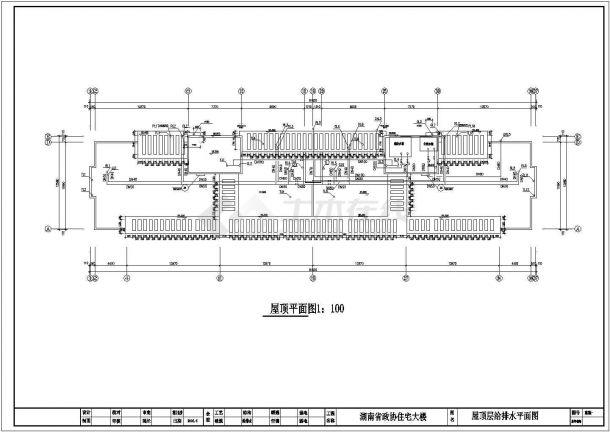 上海高层住宅给排水设计建施结施cad图(含计算书)-图一