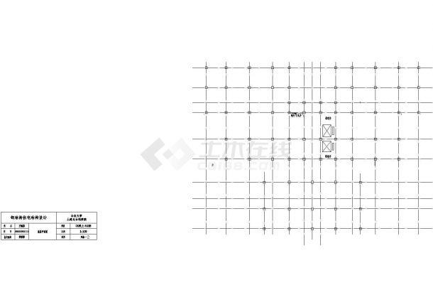 济南市兴盛家园小区10层钢框架结构住宅楼建筑结构设计CAD图纸-图二