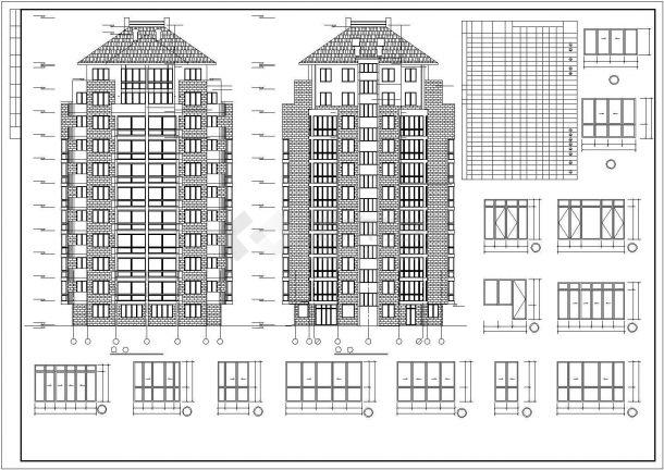 台州市某小区11层框架结构住宅楼建筑设计CAD图纸(含地下层和设备层)-图二