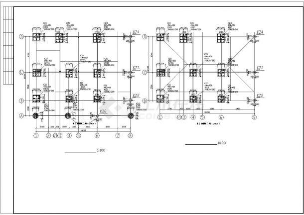 某6层异形柱钢筋混凝土框架结构住宅楼设计cad整套结施图(含详细设计说明)-图一