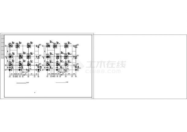 某6层异形柱钢筋混凝土框架结构住宅楼设计cad整套结施图(含详细设计说明)-图二
