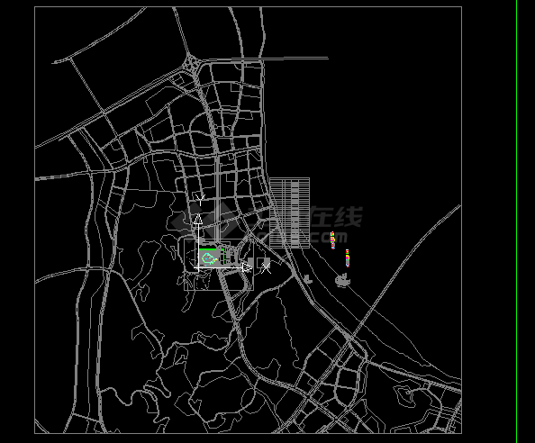 办公楼设计_某多层框架结构办公楼(政务中心区会议区餐饮区地下室)超全弱电系统新设计cad施工图纸(含设计说明)-图二