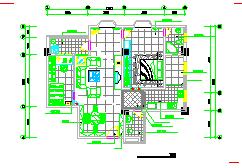 室内家装设计cad装修施工平面图-图二