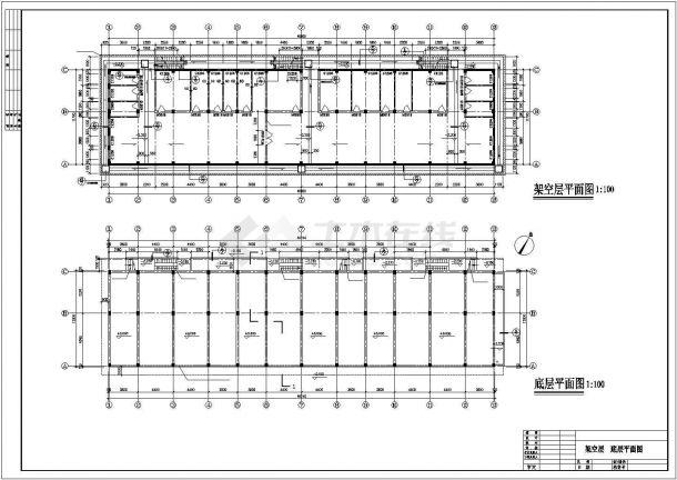惠州市某家属院5层混合结构住宅楼CAD建筑设计图纸(含阁楼和架空层)-图二