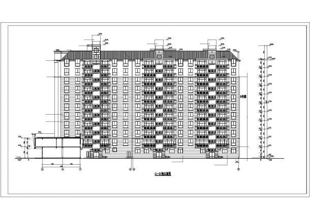 宿迁市某临街11层框剪结构商住楼CAD建筑设计图纸(1-3层商用)-图二