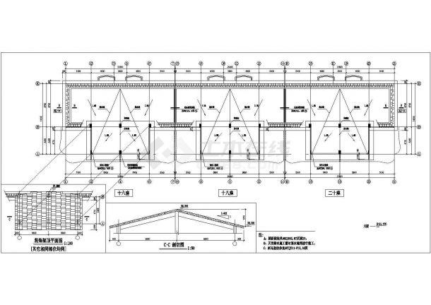 曲阜市平安新村7层砖混结构住宅楼全套CAD建筑设计图纸-图一