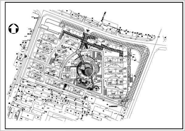 某不规则地块多层高级住宅小区规划设计cad总平面方案图-图一