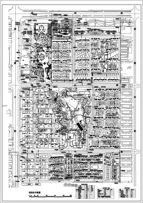 某高品质多层住宅小区规划设计cad总平面施工图(含经济技术指标)-图一