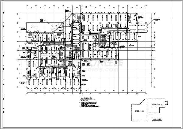 某高层商业综合体通风空调及防排烟系统设计施工图(含设计说明,建筑面积62137平米)-图一