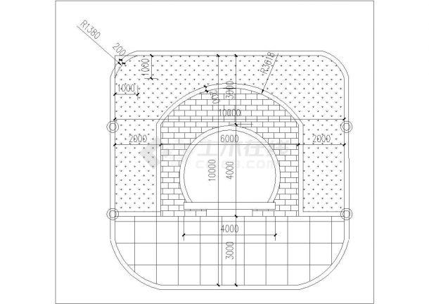 农村山上墓地坟墓设计CAD平面图-图一