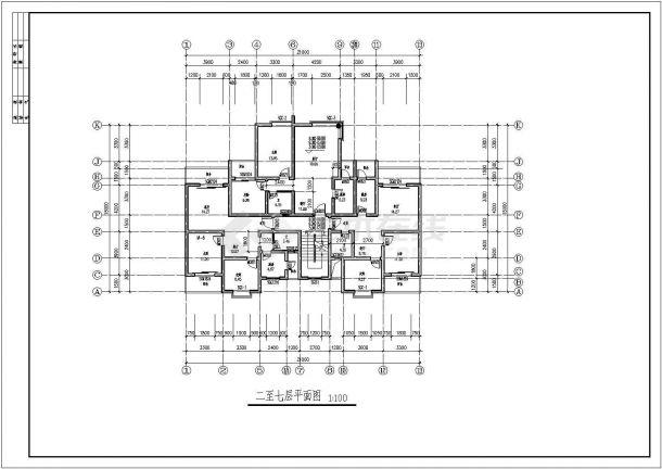 集资房建筑设计方案图纸-图一