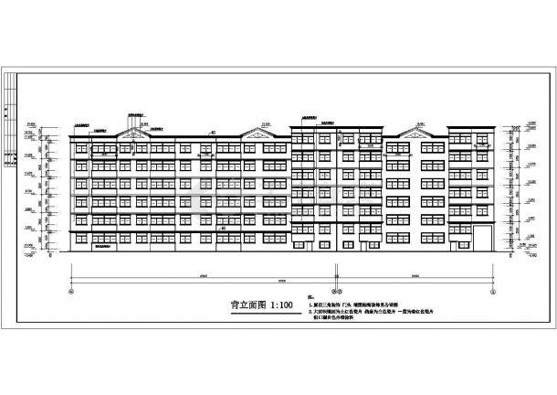 焦作市节能住宅楼建筑设计方案图-图一