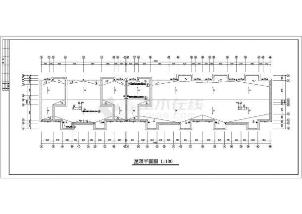 焦作市节能住宅楼建筑设计方案图-图二