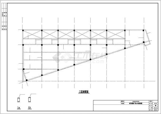 宝鸡市陈仓区某商圈四层框架结构商业楼全套结构设计CAD图纸-图一