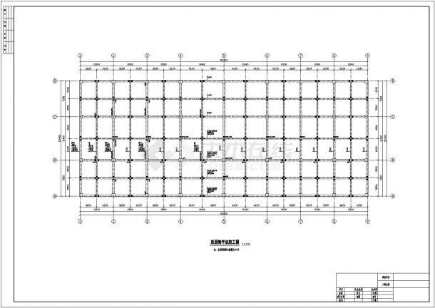 某框架结构商场建筑施工设计图纸(含计算书、施工组织设计、建筑结构设计图)-图一
