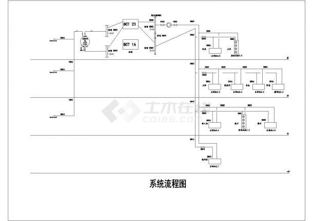 某地源中央空调系统设计cad安装大样图-图二