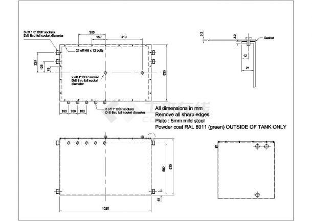 经典暖通工程各设备cad安装详图集合-图二