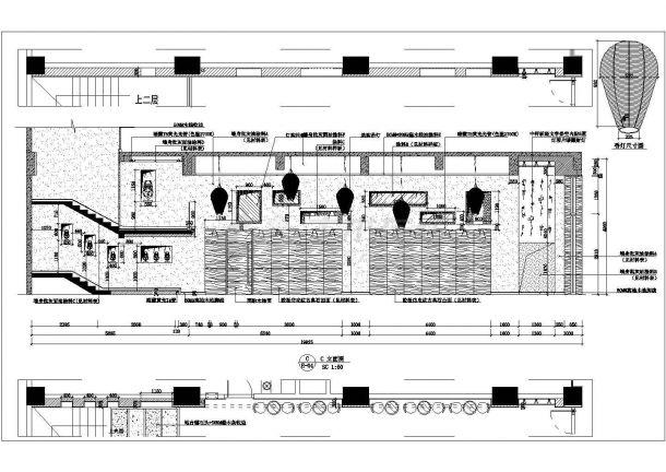 某时尚餐厅室内装饰设计cad详细施工图-图二
