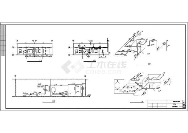 办公楼设计_某带地下室高层办公楼给排水设计cad施工图-图一