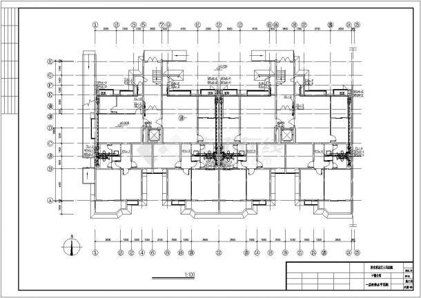 办公楼设计_某带地下室高层办公楼给排水设计cad施工图-图二