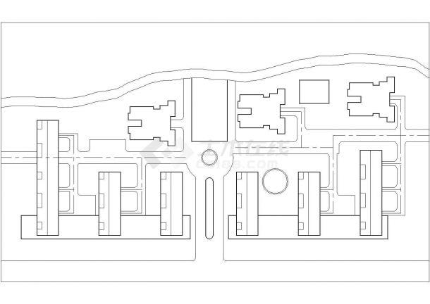经典建筑妖体环境规划设计cad施工平面图(带效果图)-图一