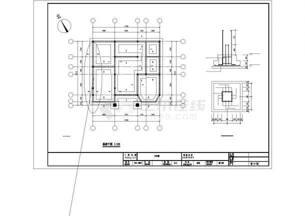 成都市度某假村400平米3层框架结构独栋别墅建筑设计CAD图纸(含夹层)-图一