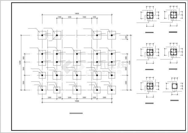 兰州市时代花园小区2层混合结构独栋别墅建筑和结构设计CAD图纸-图一
