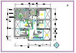 室内详细装修cad设计施工平面图纸-图一