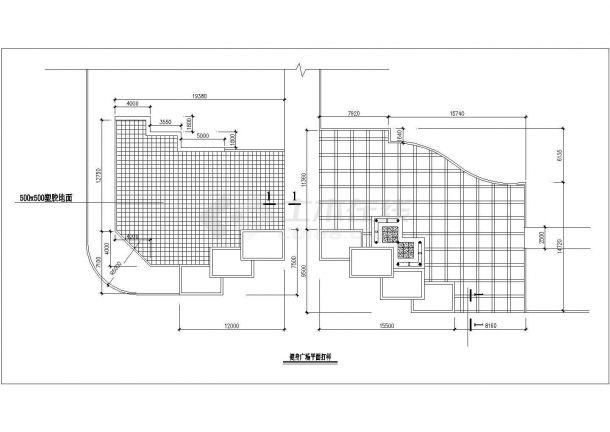 某篮球场看台设计cad施工详图(含健身广场规划设计)-图一