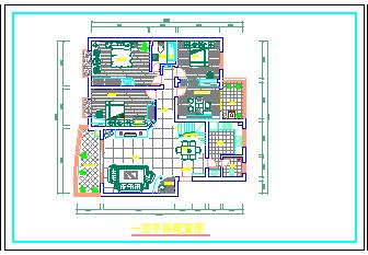 一整层住宅室内装修设计方案cad施工图-图一