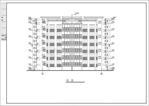 郊区多层住宅楼全套建筑设计施工cad图纸(含各层平面图)-图一