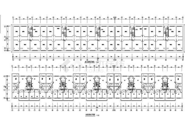 6层小区5单元砖混结构住宅楼电施设计cad图-图一