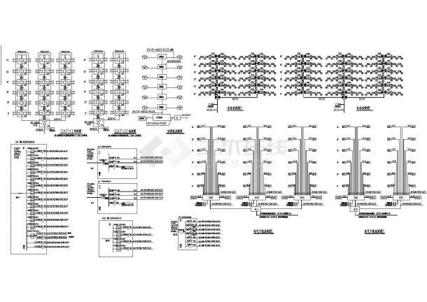 6层小区5单元砖混结构住宅楼电施设计cad图-图二