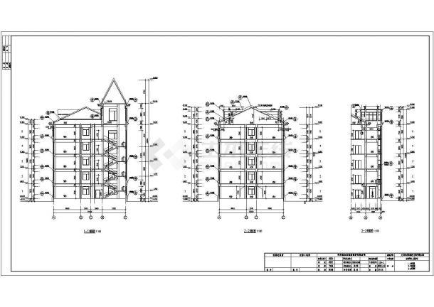 【南京】某公司员工宿舍楼施工组织设计cad图纸(含卫生间、盥洗室、淋浴间放大图)-图二