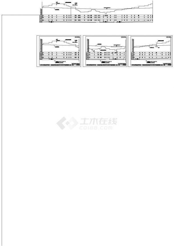 某地总长1100米路基宽度为27m四车道说明及CAD图(公路路线平、纵、横设计,路基工程设计,路面工程设计,桥型、涵洞设计,施工组织设计)-图一