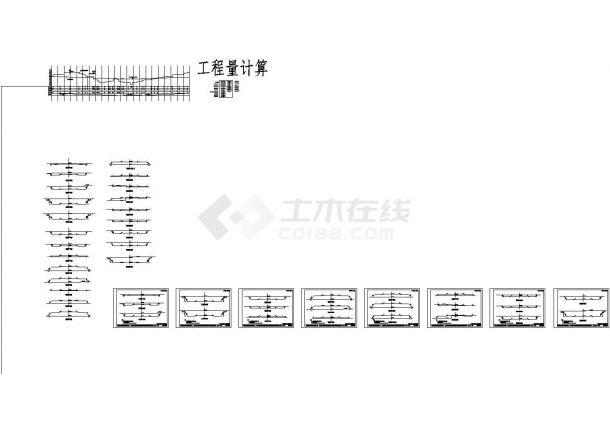 某地总长1100米路基宽度为27m四车道说明及CAD图(公路路线平、纵、横设计,路基工程设计,路面工程设计,桥型、涵洞设计,施工组织设计)-图二