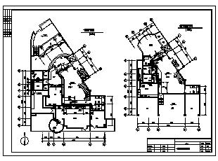 某三层带地下室别墅暖通施工cad图,含中央空调,地面辐射供暖系统设计-图一