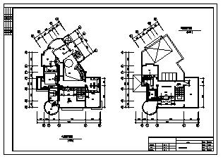 某三层带地下室别墅暖通施工cad图,含中央空调,地面辐射供暖系统设计-图二