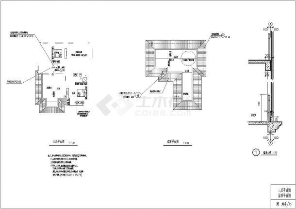 某地区两套钢筋混凝土框架结构住宅楼建筑设计全套cad图纸(含效果图)-图一