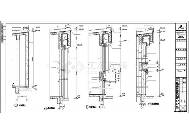 某一层框架结构商业楼建筑设计施工CAD图纸-图一
